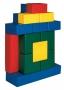 Детские мягкие модули Строительный набор «Пряничный домик» 16модулей