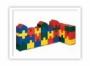 Детские мягкие модули Строительный набор «Строитель» 40 модулей