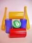 Городки (набор 14 предметов) пластмасса