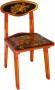 Мебель для детского сада Стул с хохломской росписью