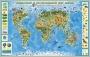 Физическая карта мира (полушарий)
