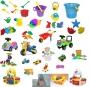 Комплект игрушек и игр с водой и песком для младшей,средней,стар