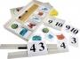 Набор карточек с гнездами для составления простых арифметических