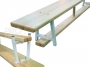 Скамейка (скамья) гимнастическая 2,5м ( на металлических ножках)