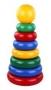 Пирамидки (из 6-10 элементов), окрашенные в основные цвета