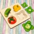 """Развивающая доска больше-меньше """"Овощи"""""""