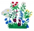 Луговые цветы с игровым полем